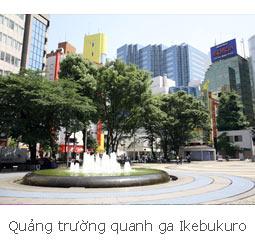 Quảng trường quanh ga Ikebukuro