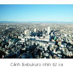 Cảnh Ikebukuro nhìn từ xa